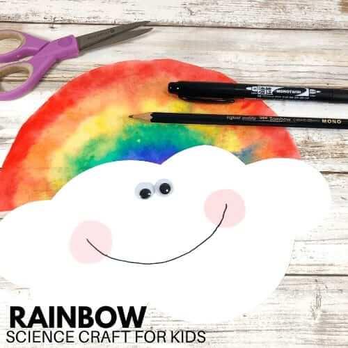 coffee crafts rainbow filter science craft