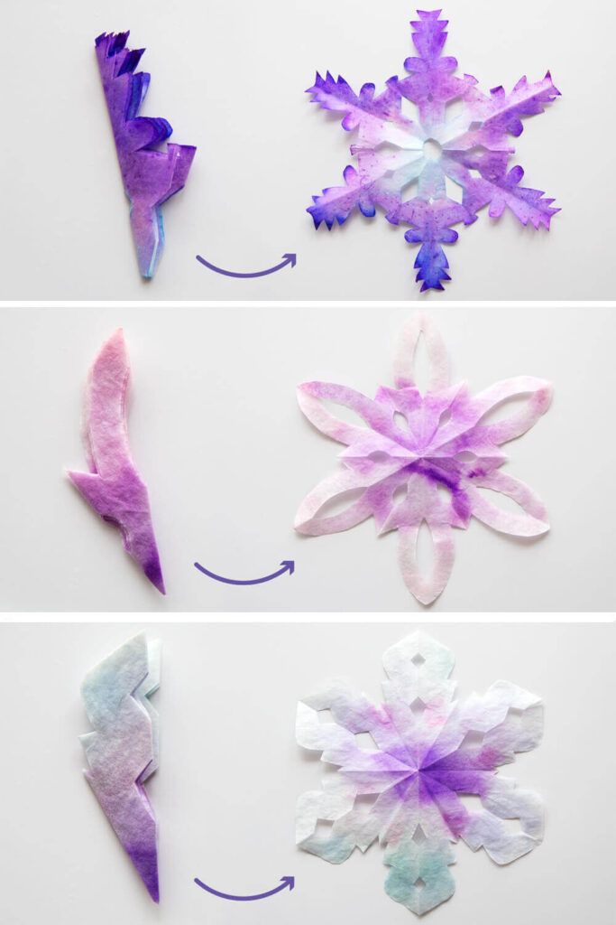 coffee filter crafts snowflake