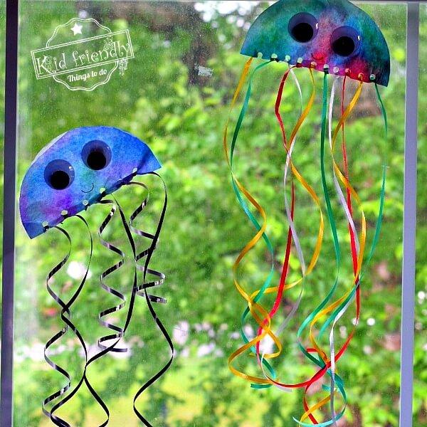 coffee filters craft jellyfish