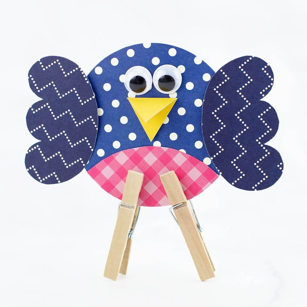 cute paper bird craft for kids