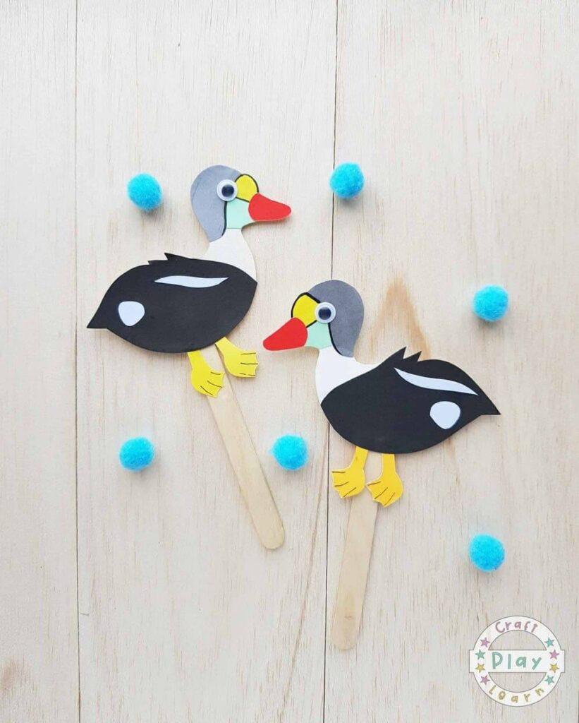 eider paper bird crafts