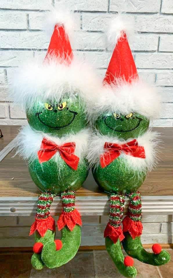 grinch christmas decoration fish bowl
