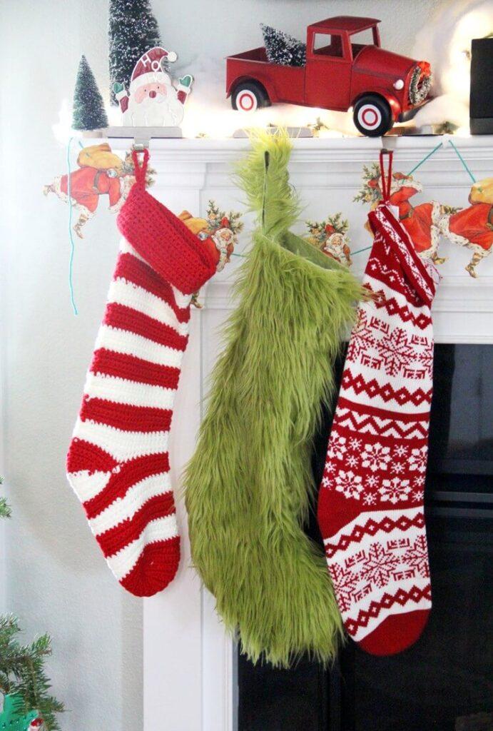 grinch decor stocking diy