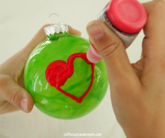 grinch heart ornament