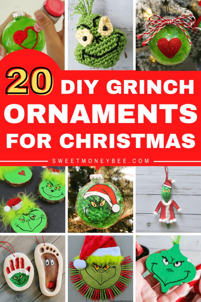 grinch ornaments diy pinterest