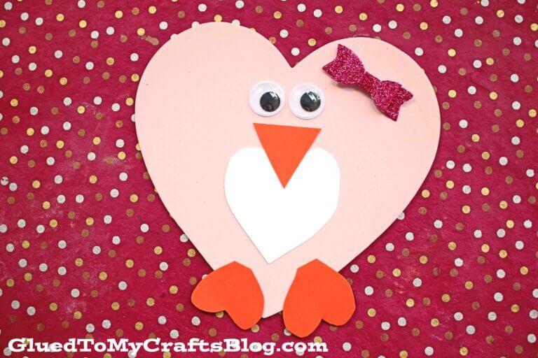 heart penguin craft