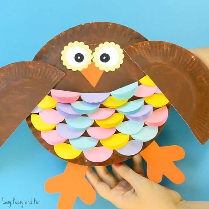 owl bird plate craft