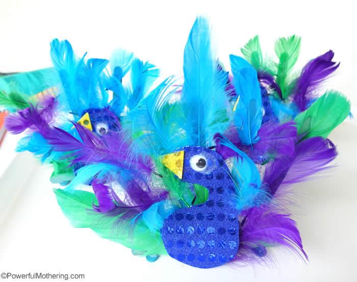 peacock bird feather crafts