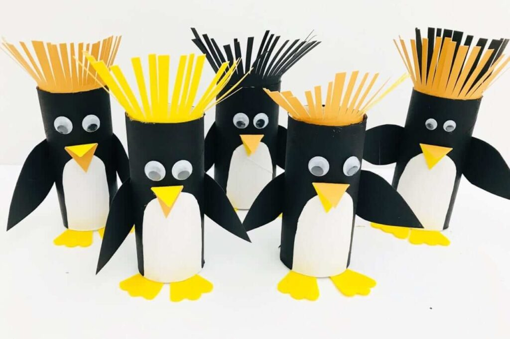 penguin craft toilet roll
