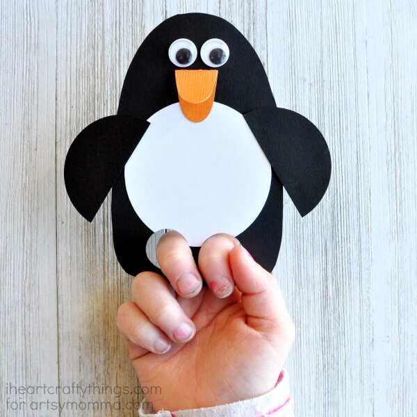 penguin-finger-puppet-craft