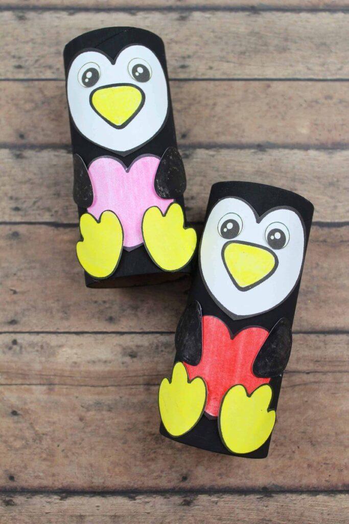 penguin heart craft