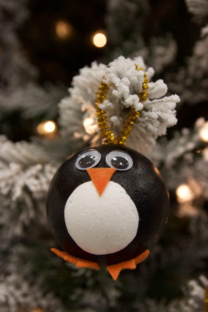 penguin ornament craft