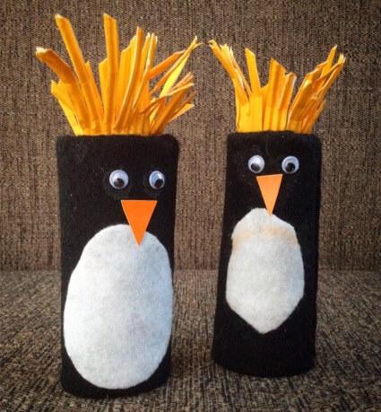 penguin paper roll crafts