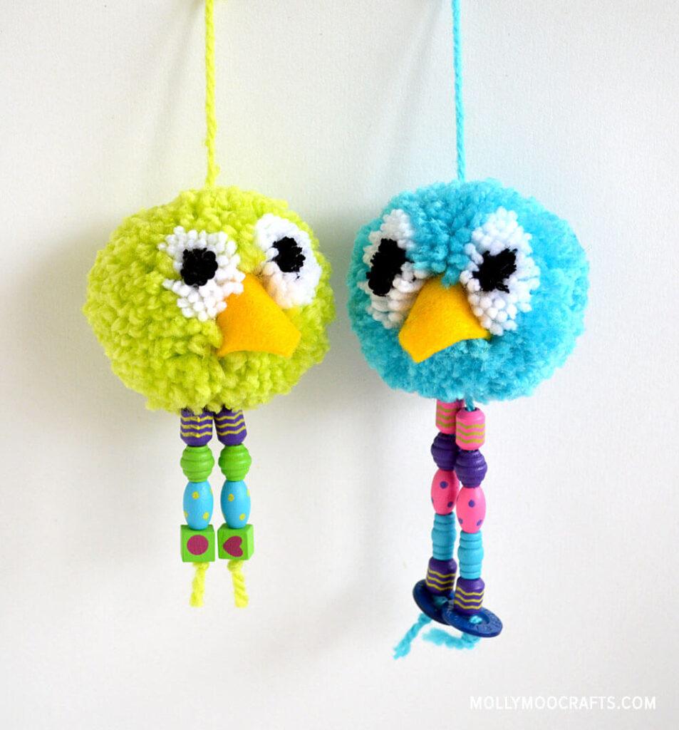 pom pom bird craft