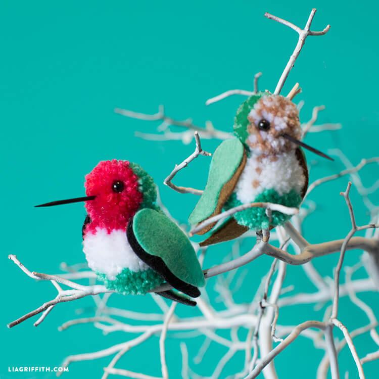 pom pom hummingbird craft