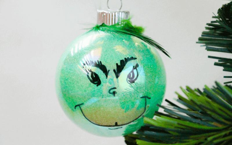 rotten diy grinch ornament