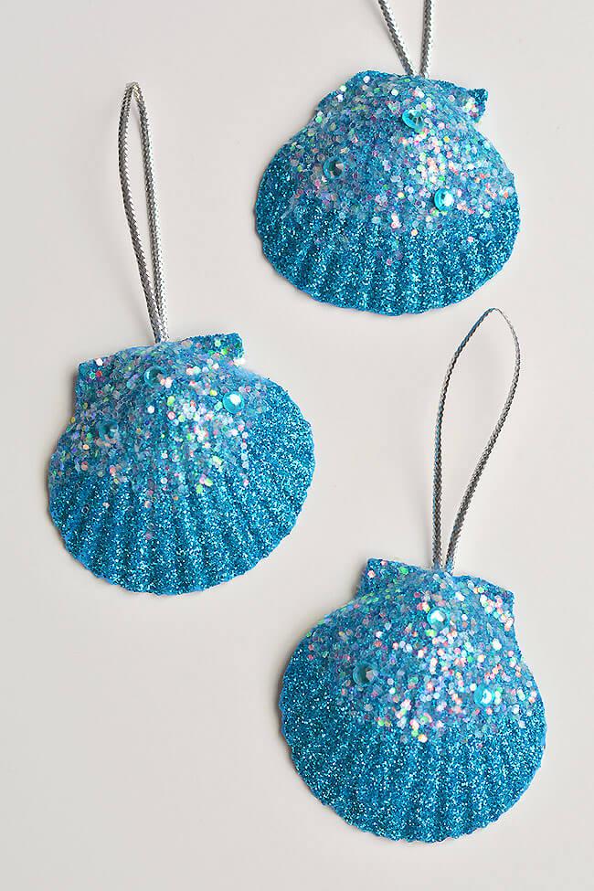 seashell glitter crafts