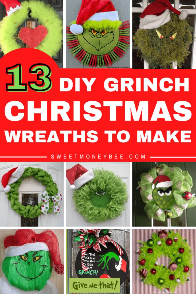 DIY Grinch Christmas Wreath Ideas Pinterest