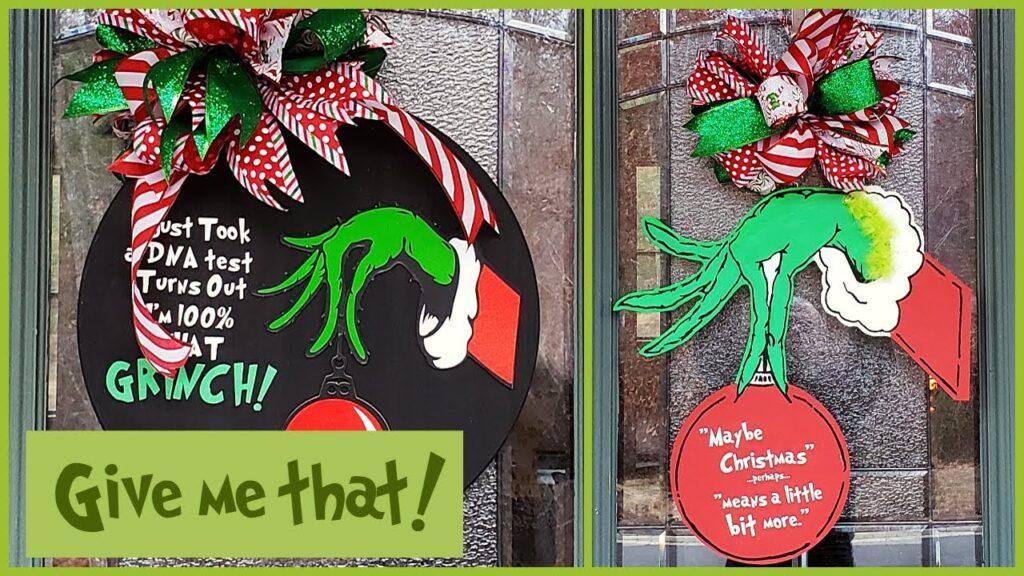Grinch Hand Christmas Wreath