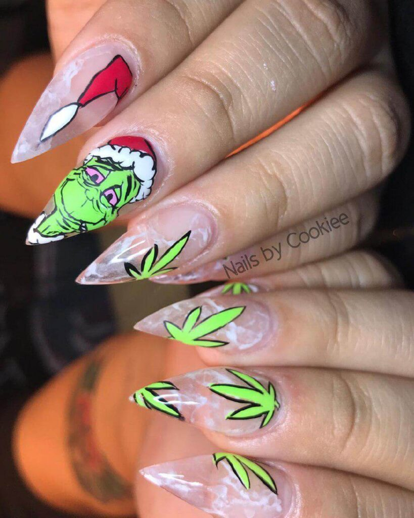 Holiday Grinch Nails by Cookiee