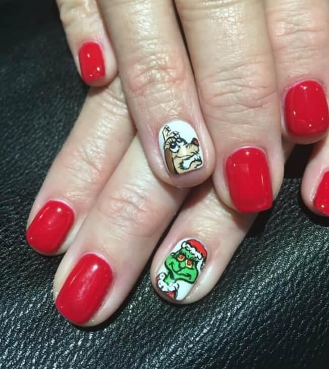 grinch and max nails