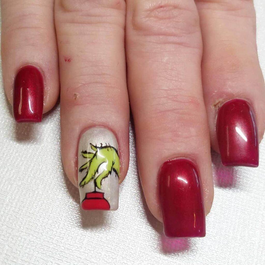 grinch hand nails