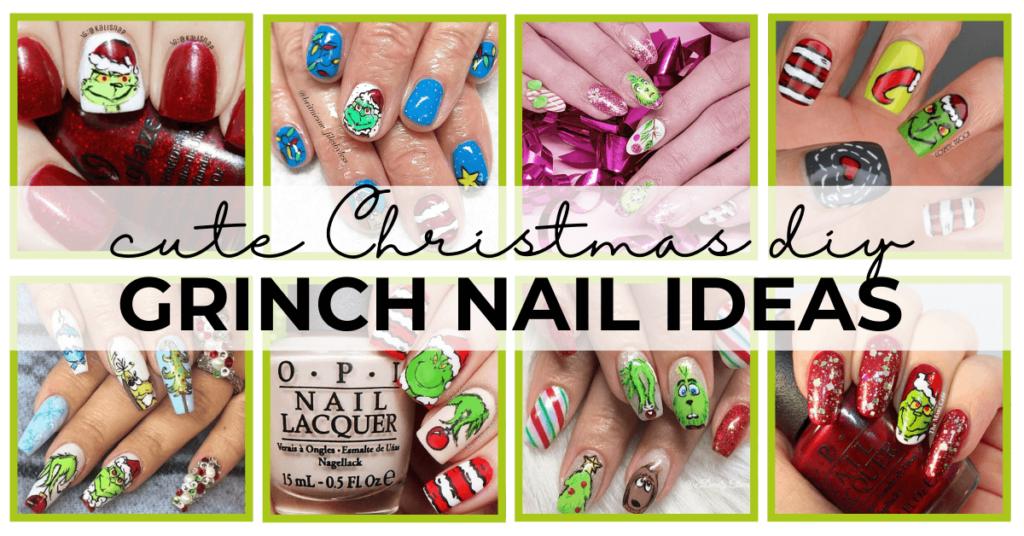 grinch nail ideas