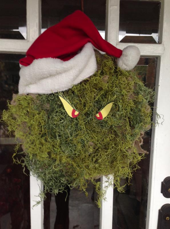 grinch wreath front door