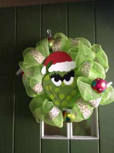 pinterest grinch wreath idea