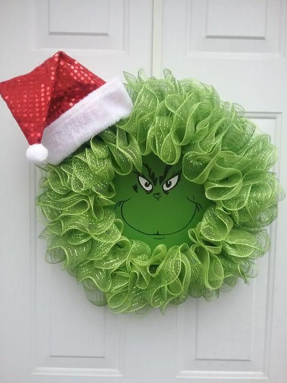 tulle grinch wreath