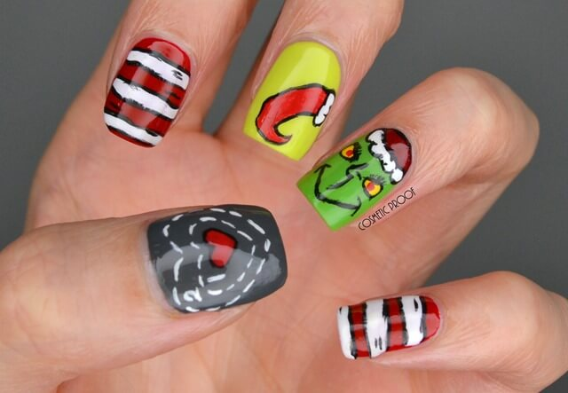 you're a mean one mr grinch nails